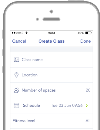 Screenshot - Create Class